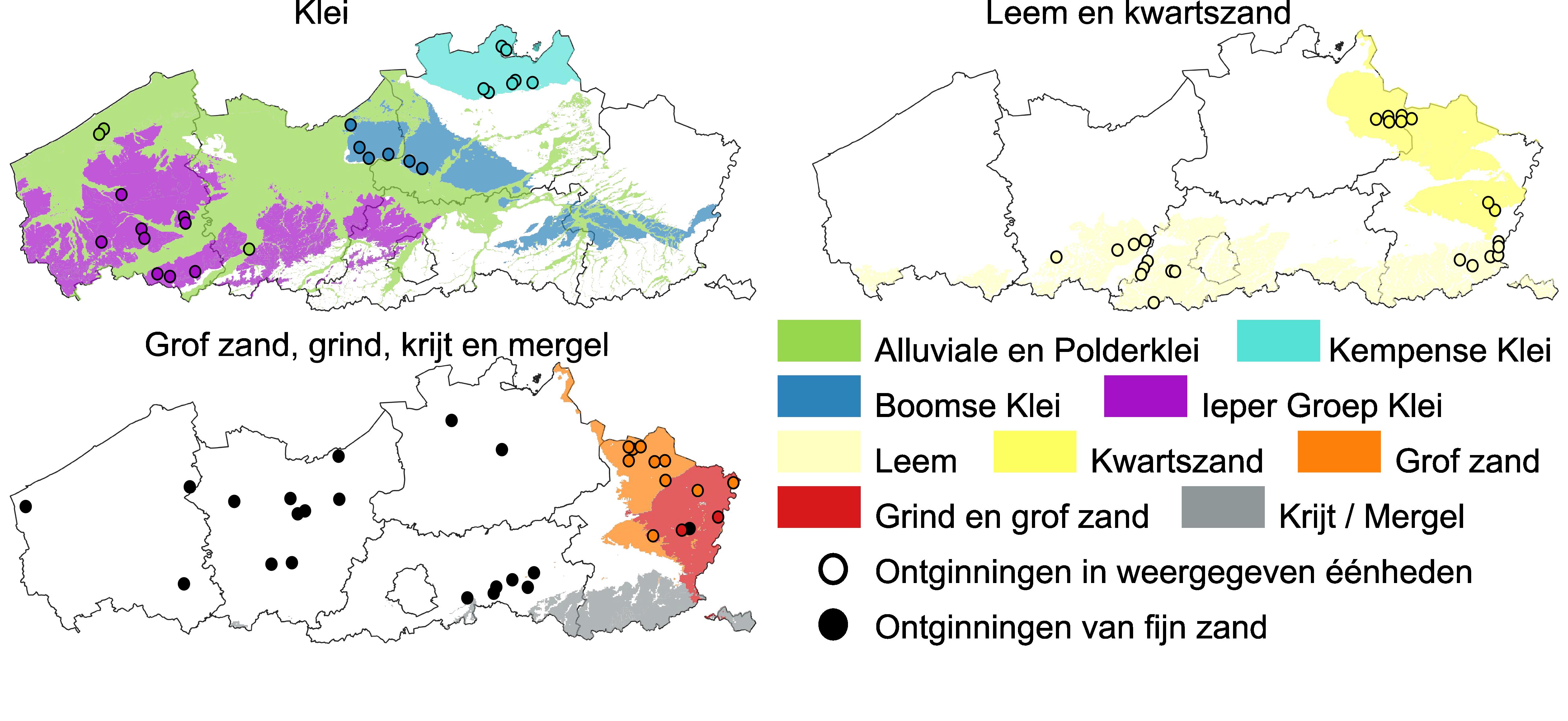 Delfstofvoorkomens in Vlaanderen