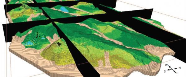 Geologisch 3D-model